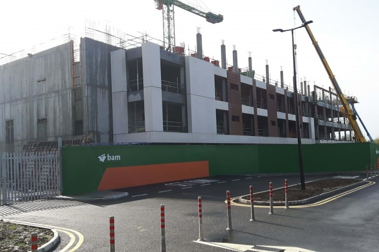 On site progress for the new Palliative Care and Ward Block, University Hospital Waterford