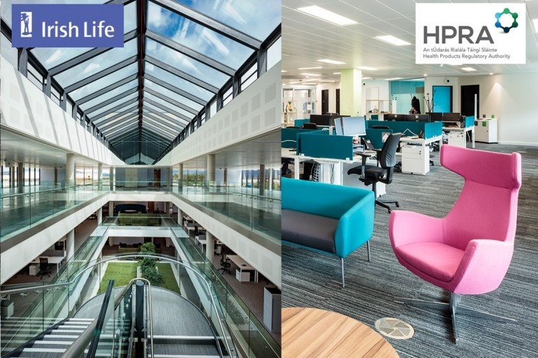 Additional office fit-outs and refurbishments for Irish Life and the Health Products Regulatory Authority (HPRA)