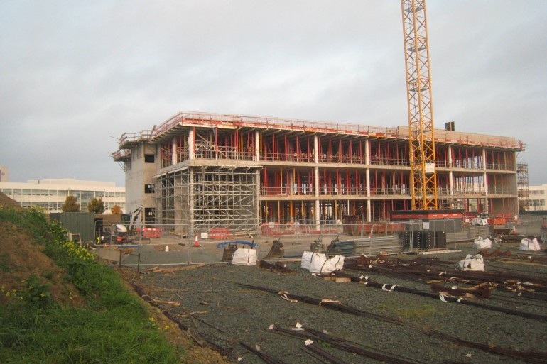 Progress of construction works on the new Office Building for Irish Life in Dundalk