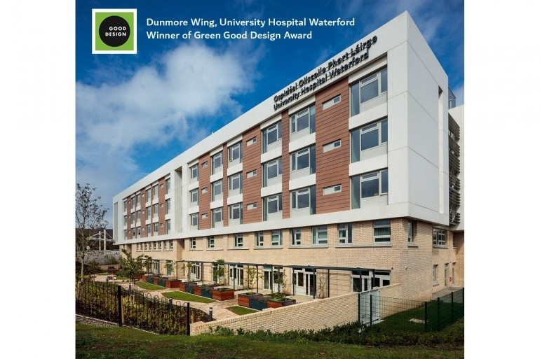 Green Good Design Award for the Dunmore Wing in University Hospital Waterford